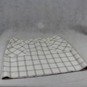 Ann Taylor LOFT Window Pane Plaid Lined Skirt NWT